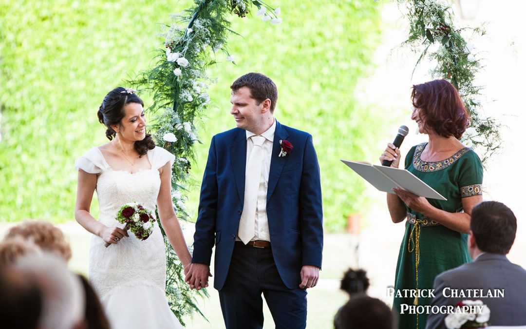Cérémonie laïque pour mariage en Bretagne au Domaine de Keravel